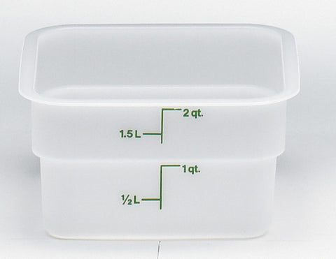Cambro Square Poly White Container (Case-6pcs), Food Container - eKitchenary