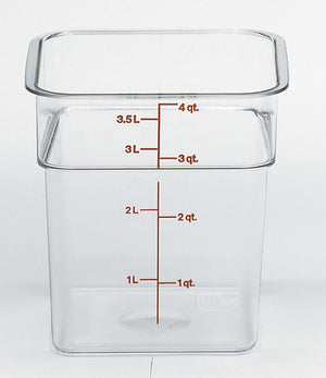 Cambro Square Clear Container, Food Container - eKitchenary