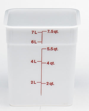 Cambro Square Poly White Container, Food Container - eKitchenary