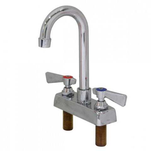 "4"" Deck Mount Faucet w/ Goose Neck Spout, Equipment - eKitchenary"