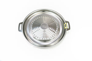 Stainless Steel Korean Bbq Bulgogi Grill (불고기 판), Stainless Steel - eKitchenary