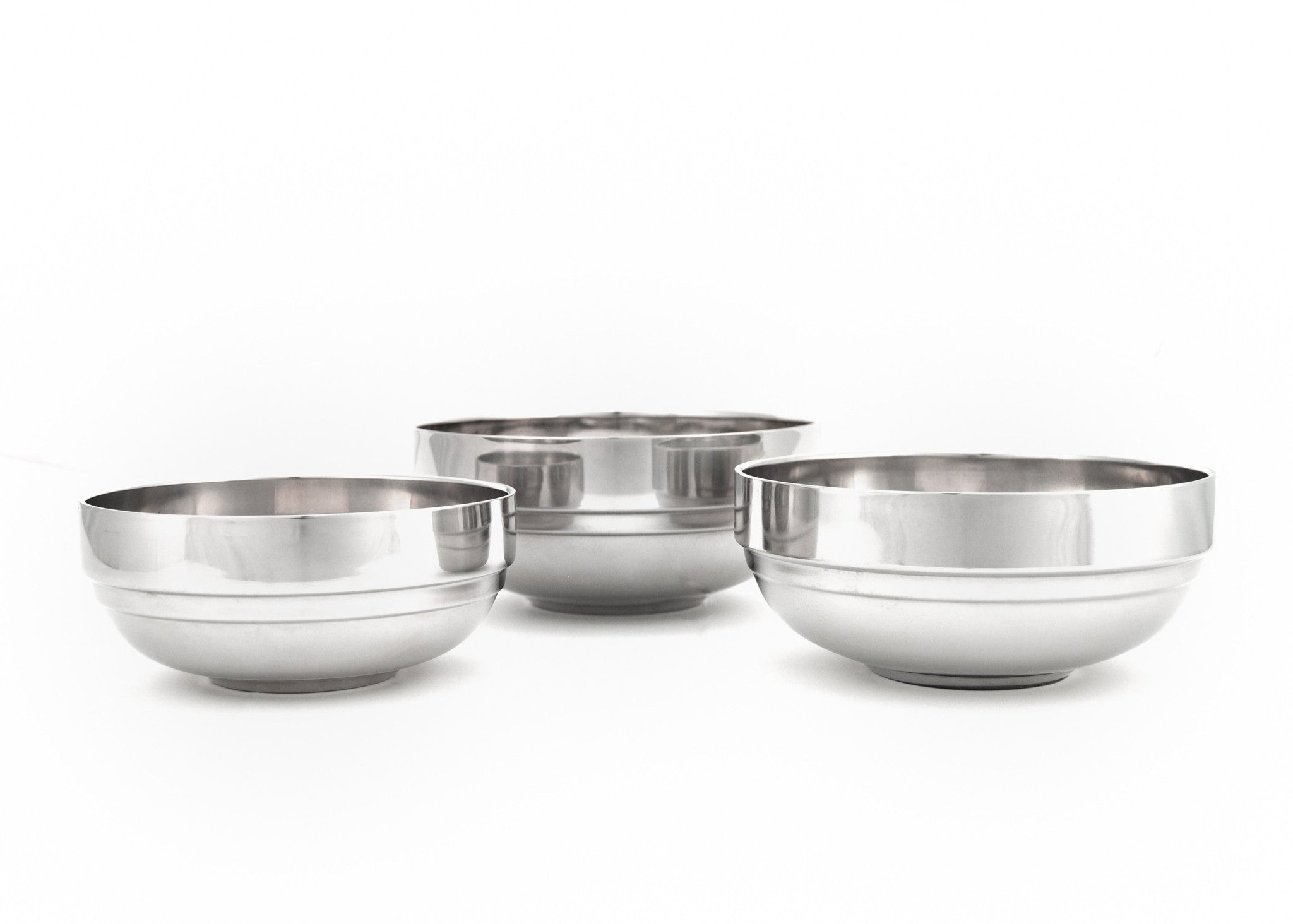 Stainless Steel Double Wall Bowl (Tangi) 탕기, Stainless Steel - eKitchenary