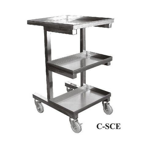 Stainless Steel Sauce Pan Cart,  - eKitchenary