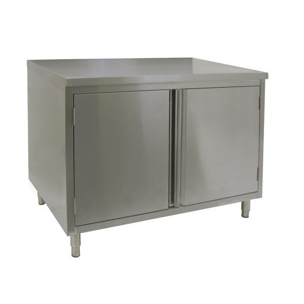 Stainless Steel Flat Top Enclosed Work Tables (Hinged