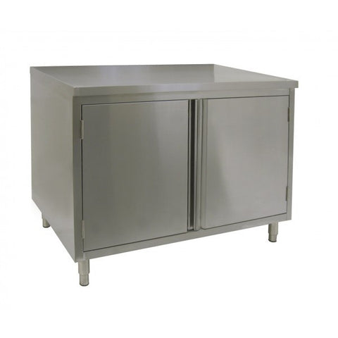 Stainless Steel Flat Top Enclosed Work Tables (Hinged Doors), Equipment - eKitchenary