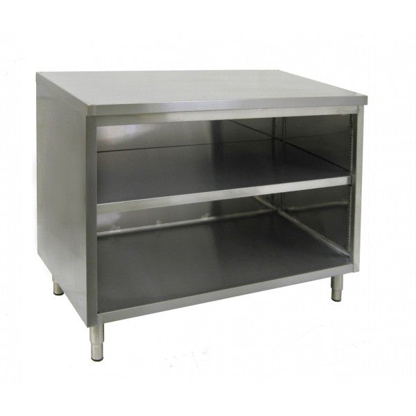 Stainless Steel Flat Top Enclosed Work Tables (No Door)
