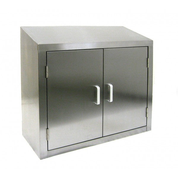 Stainless Steel Slope Top Wall Cabinets, Equipment - eKitchenary