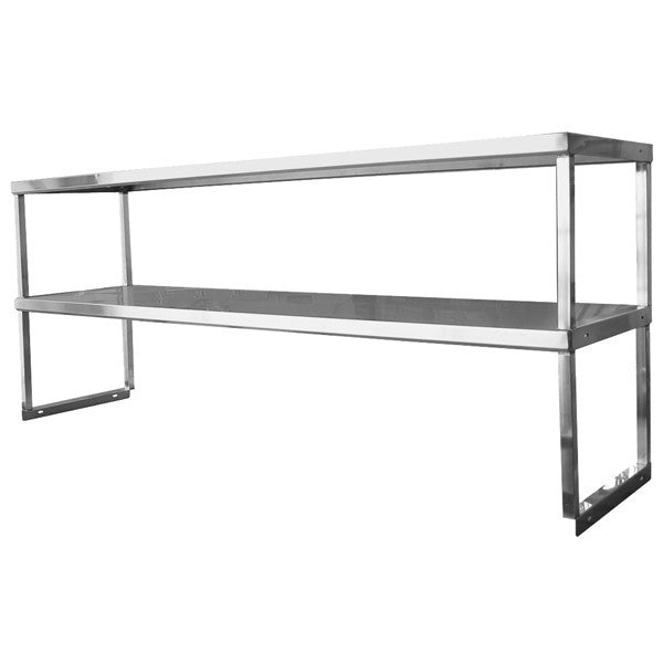 Standard Stainless Steel Double Over Shelf, Equipment - eKitchenary