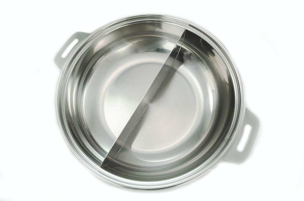 Stainless Steel Divided Shabu Pot, Stainless Steel - eKitchenary
