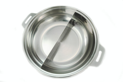 Stainless Steel Divided Shabu Pot