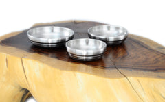 Double Wall Satin Stainless Steel Bowls & Dishes 이중 샤틴 스텐레스 그릇