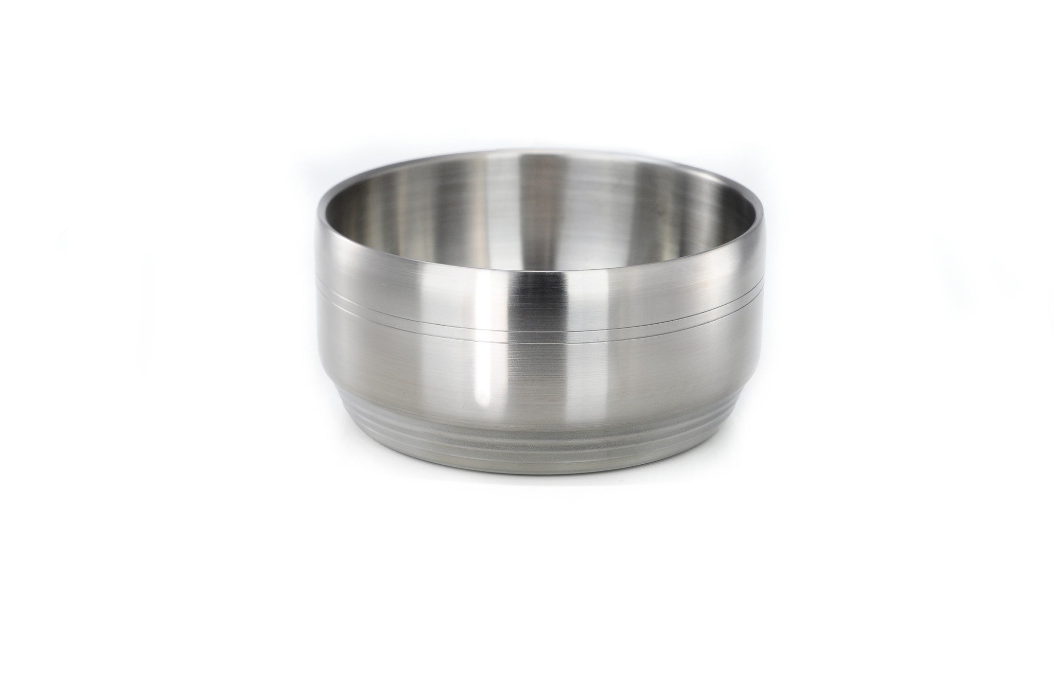 Double Wall Satin Stainless Steel Bowls & Dishes 이중 샤틴 스텐레스 그릇, Stainless Steel - eKitchenary