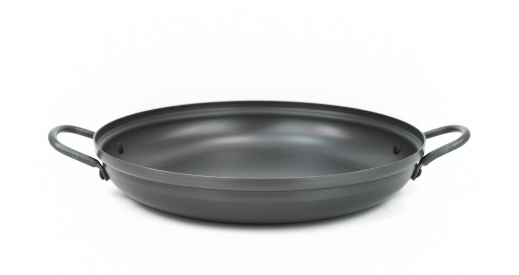 Anodized Aluminum Korean Stew Pot, Low 경질 낮은 전골 냄비, Aluminum - eKitchenary