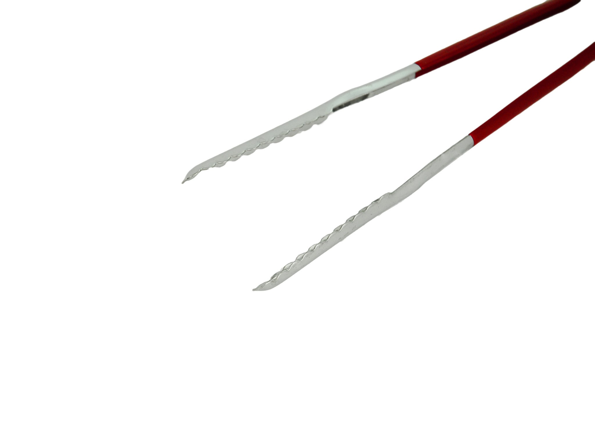 Stainless Steel Tongs with Coated Red Handle (코팅 얼음 집게), Kitchen Tools - eKitchenary