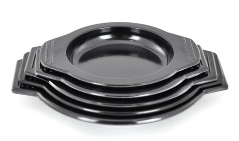 Melamine Black Bases for Korean Stone & Clay Pots (Case-25pcs), Melamine - eKitchenary