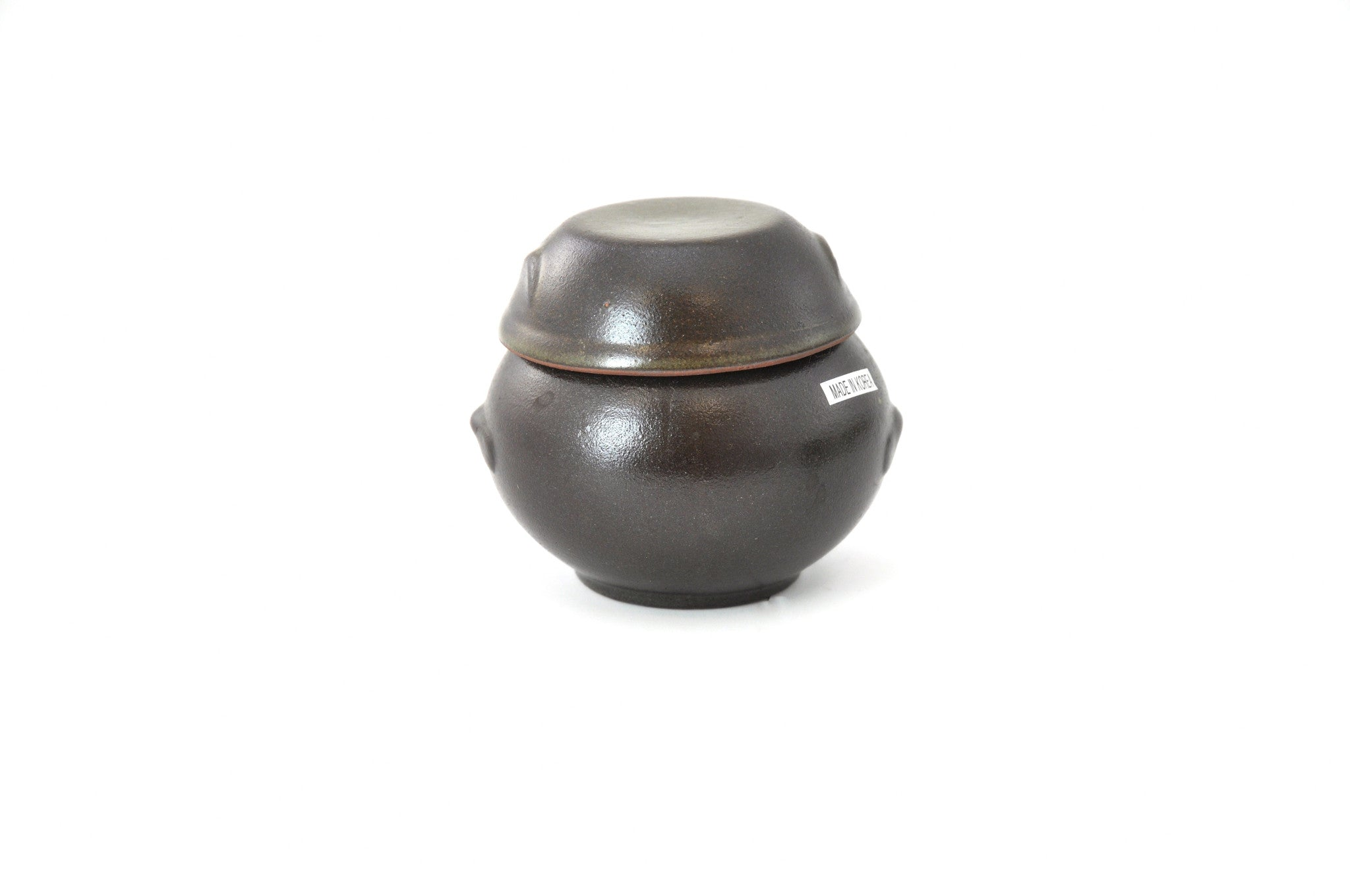 Korean Mini Clay Jar with Lid, Hangari 항아리 (Mini), Clay - eKitchenary