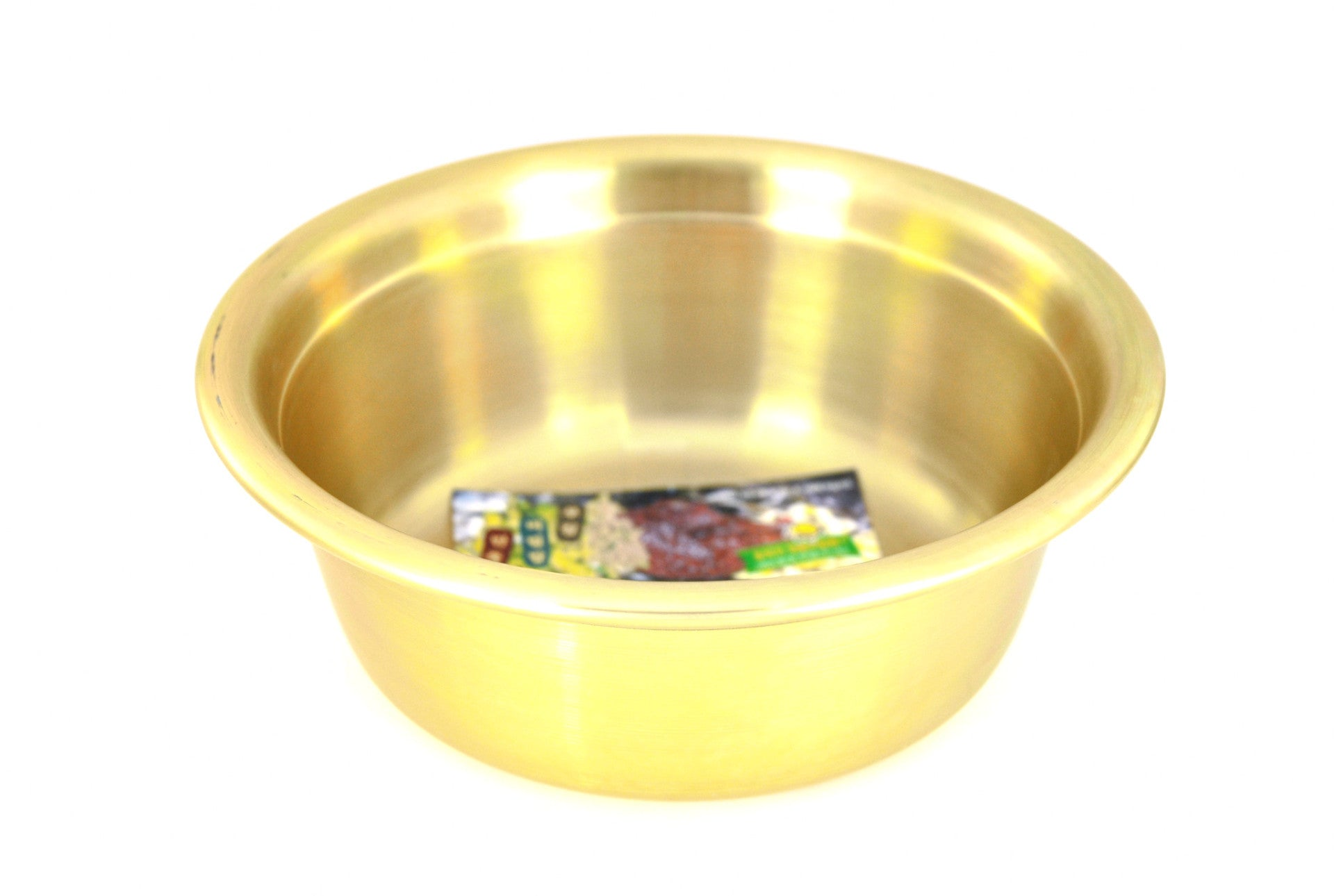 Nickel Plated Yellow Aluminum Korean Bowl 양푼이 (Case), Aluminum - eKitchenary