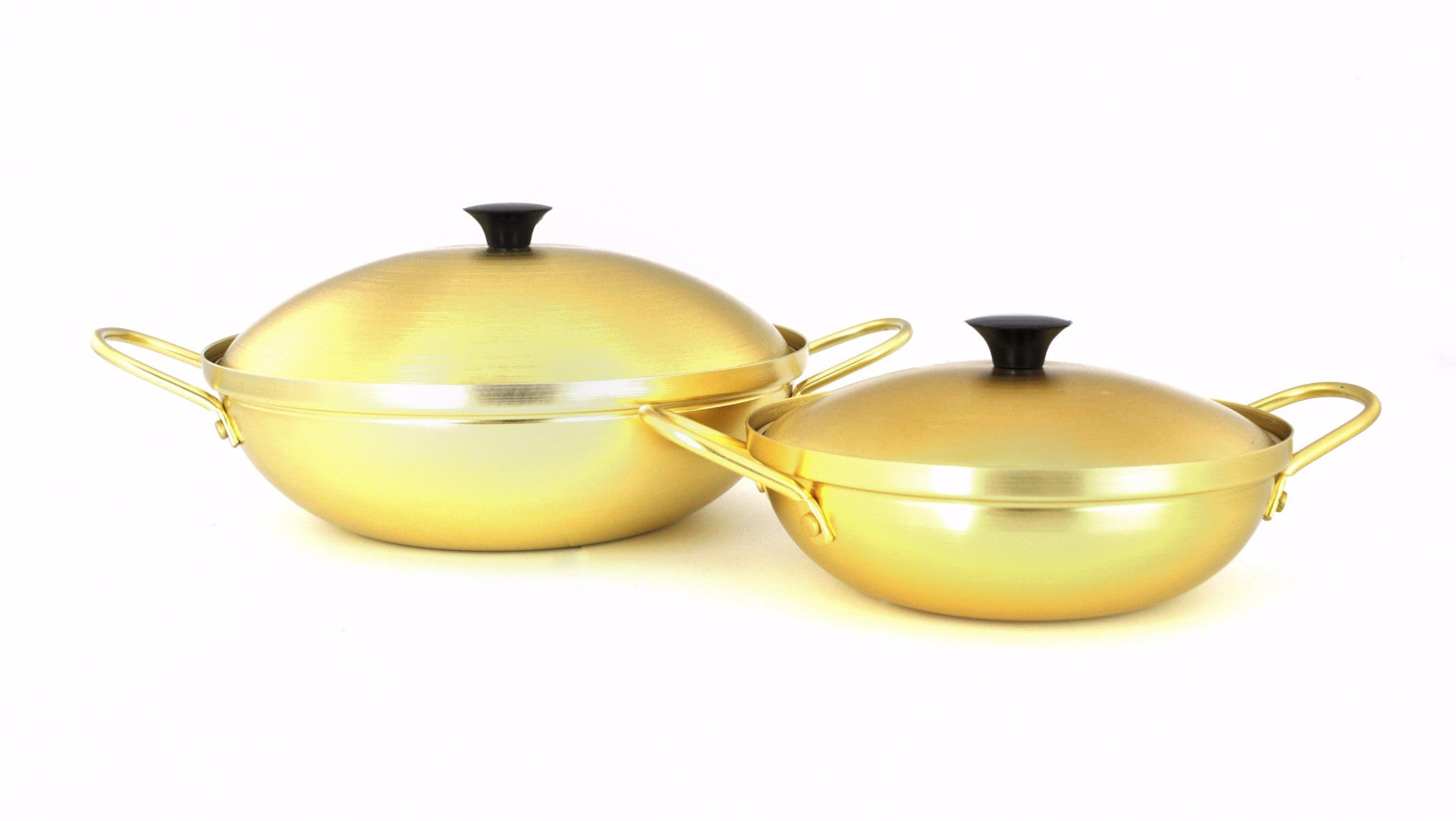 Nickel Plated Yellow Aluminum Korean Pot with Lid 양은 냄비 (Case-10pcs), Aluminum - eKitchenary