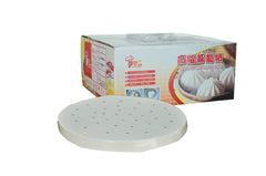 "8"" Perforated Non-Stick Steamer Liner for Dim Sum,  - eKitchenary"