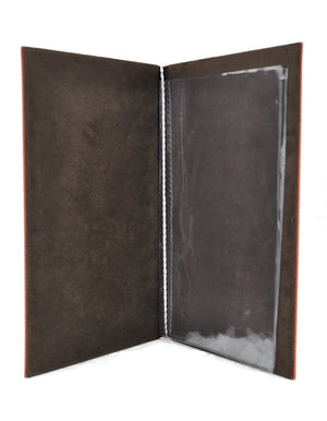 Menu Book with Leather Texture, Tabletop - eKitchenary