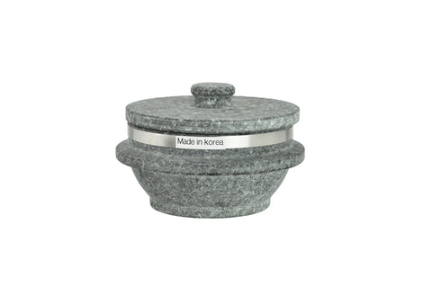 Korean Stone Pot with Rim, Dolsot 돌솥