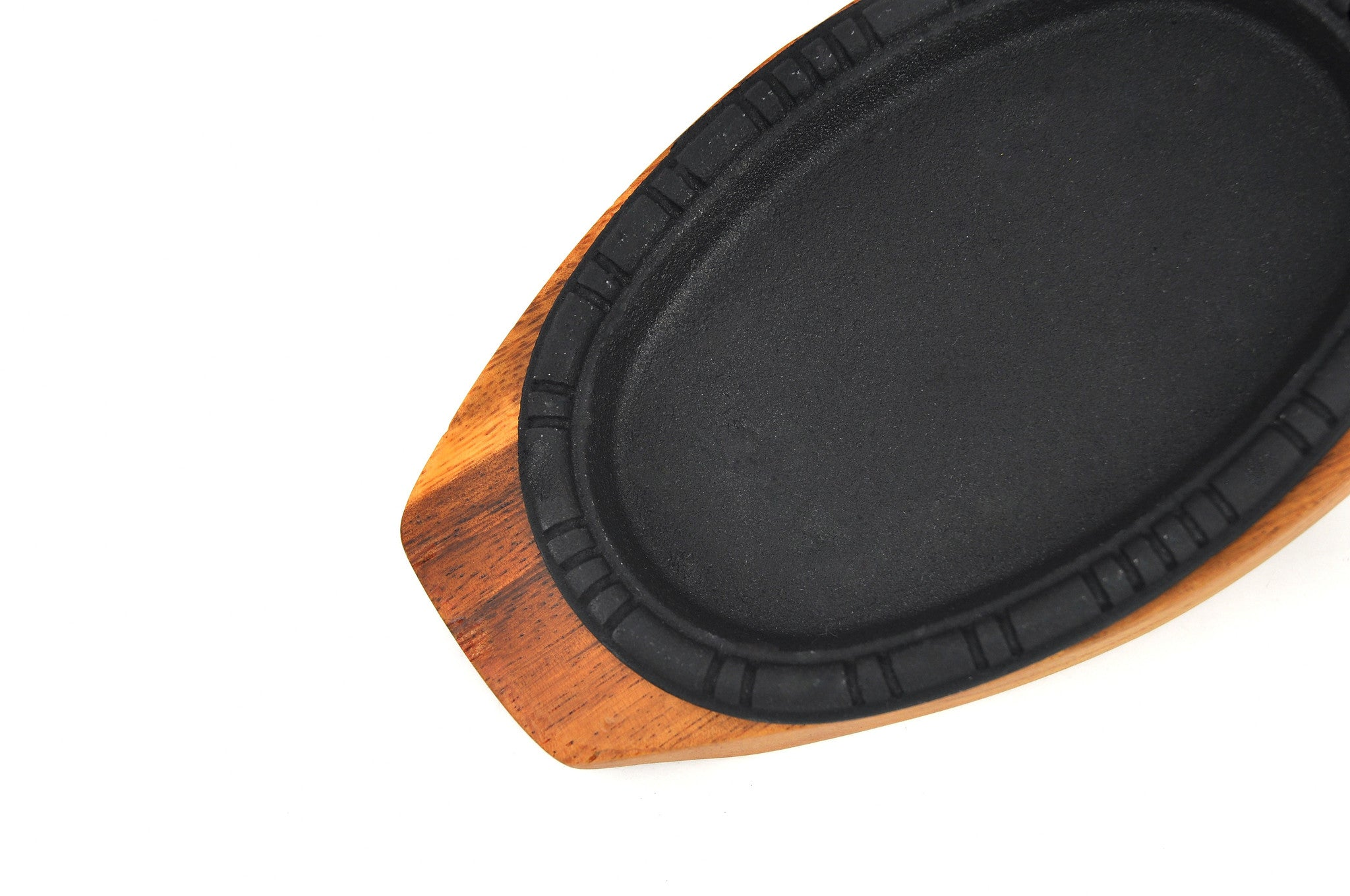 Korean Cast Iron Barbecue Sizzling Plate, Oval 타원 무쇠 판 (Case-12pcs), Cast Iron - eKitchenary