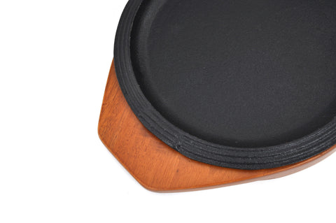 Korean Cast Iron Barbecue Sizzling Plate, Round 원형 무쇠 판, Cast Iron - eKitchenary