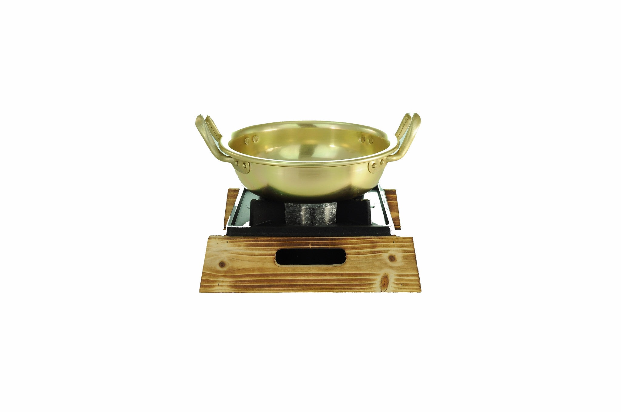 Nickel Plated Yellow Aluminum Korean Pot, Low  양은 낮은 냄비 (Case-12pcs), Aluminum - eKitchenary