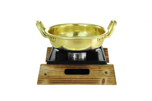 Nickel Plated Yellow Aluminum Korean Pot, Low  양은 낮은 냄비, Aluminum - eKitchenary
