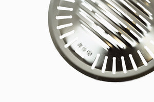 Stainless Steel Korean Slotted Bbq Grill, Round (쇠돌이), Stainless Steel - eKitchenary
