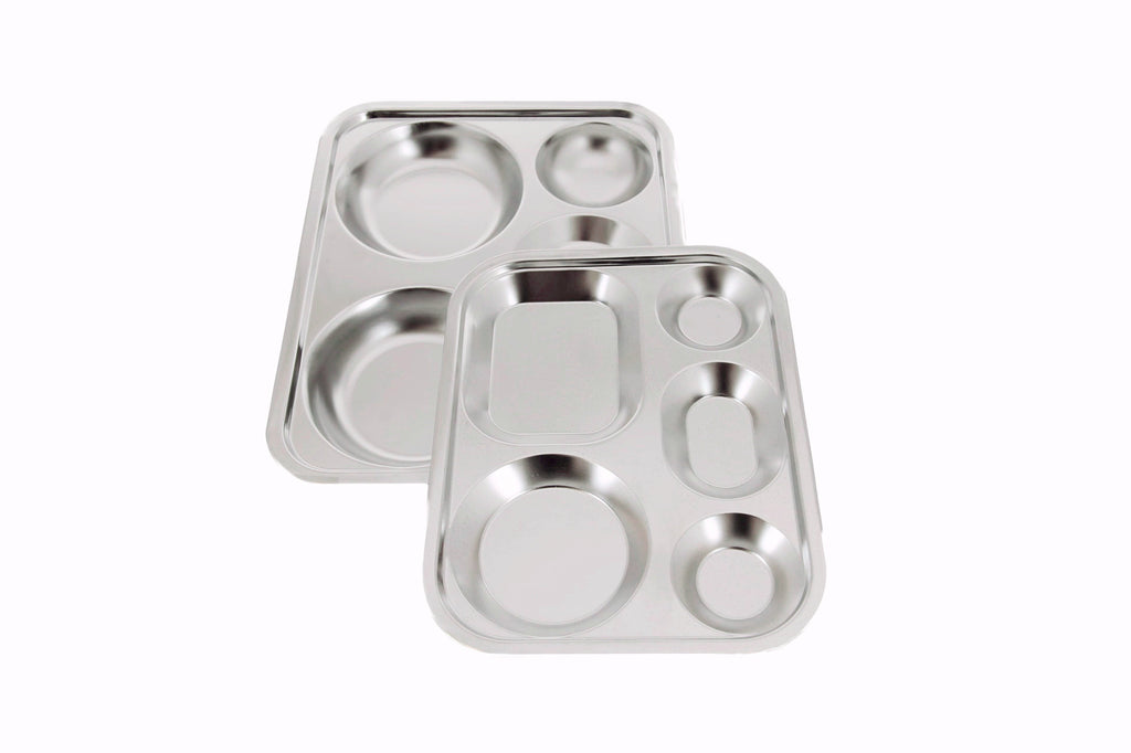 Stainless Steel Divided Tray, Stainless Steel - eKitchenary