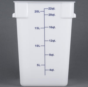 Thunder Group Polypropylene Sqaure Food Storage, White, Polycarbonate - eKitchenary