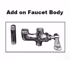 "8"" Pre-Rinse Wall Mount Faucet Unit (No Lead) and Accessories NSF, Equipment - eKitchenary"