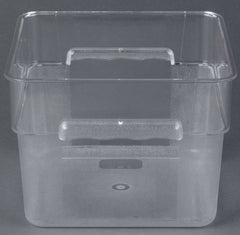 Thunder Group Polycarbonate Sqaure Food Storage, Clear, Polycarbonate - eKitchenary