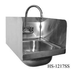 Stainless Steel Wall Mount Space Saver Hand Sink, Equipment - eKitchenary
