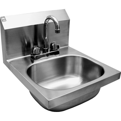Wall Mount Hand Sinks w/ Deck Mount Faucet, Equipment - eKitchenary