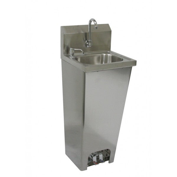 Stainless Steel Foot Operated Wall Mount Hand Sink