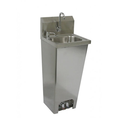 Stainless Steel Foot Operated Wall Mount Hand Sink, Equipment - eKitchenary