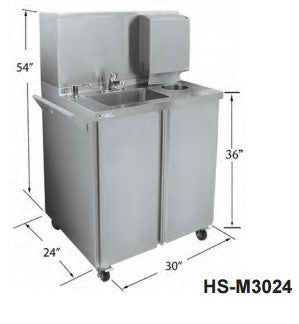 Stainless Steel Mobile Hand Sink