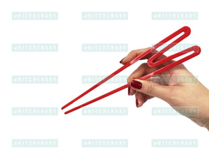 "9"" Plastic Training Beginner Chopsticks (Easy to Use), Melamine - eKitchenary"