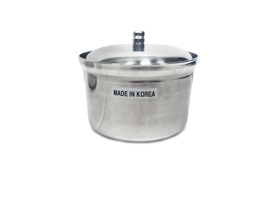 Stainless Steel Condiment Container with Spoon Slot (양념 통), Tabletop - eKitchenary