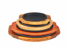 Korean Cast Iron Barbecue Sizzling Plate, Oval 타원 무쇠 판 (Case-12pcs)