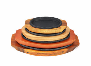 Korean Cast Iron Barbecue Sizzling Plate, Oval 타원 무쇠 판, Cast Iron - eKitchenary