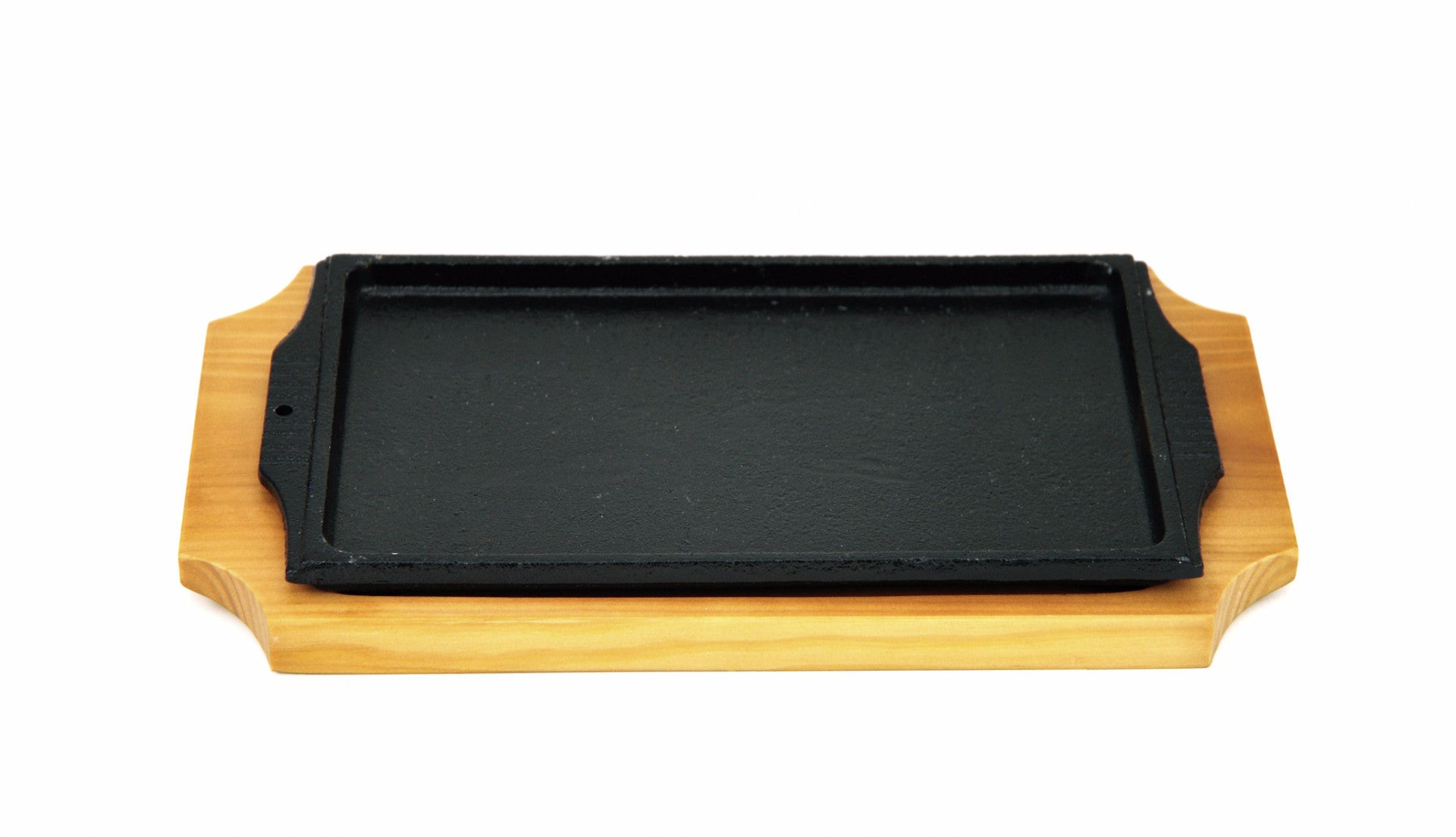 Korean Cast Iron Barbecue Sizzling Plate, Rectangle 구형 무쇠 판 (Case-12pcs), Cast Iron - eKitchenary