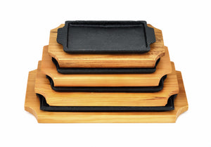 Korean Cast Iron Barbecue Sizzling Plate, Rectangle 구형 무쇠 판, Cast Iron - eKitchenary