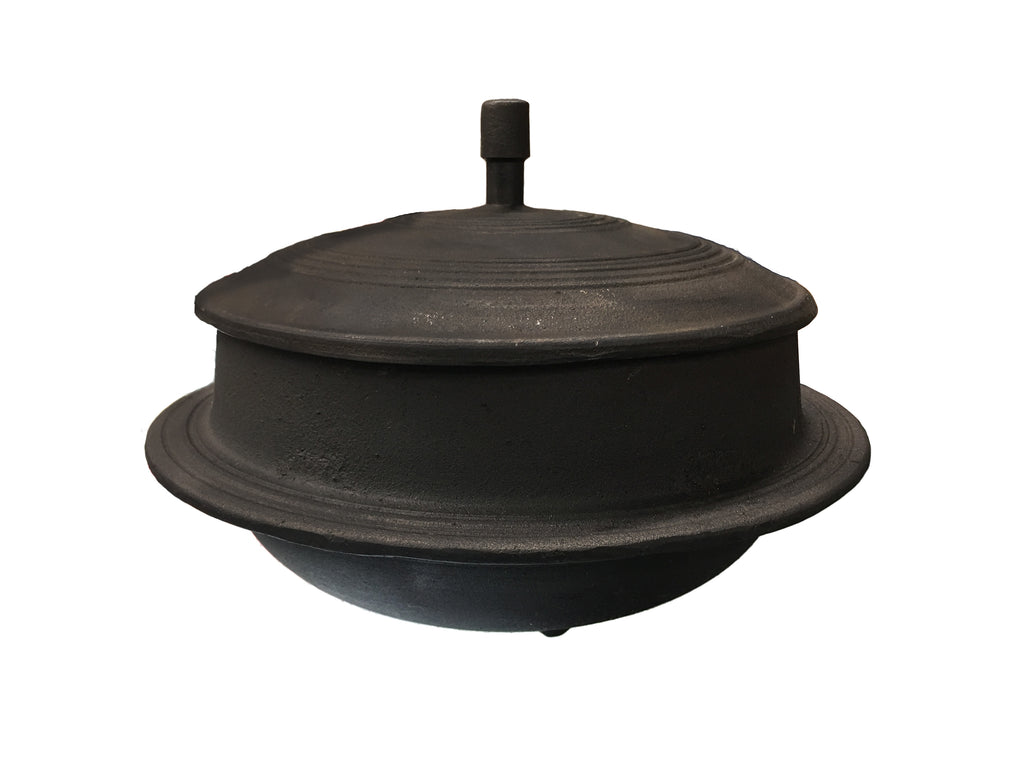 Korean Cast Iron Traditional Cooking Pot with Lid, Gamasot 가마솥 ...
