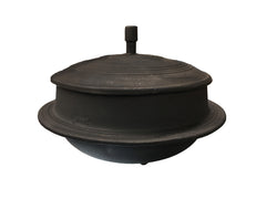 Korean Cast Iron Traditional Cooking Pot with Lid, Gamasot 가마솥