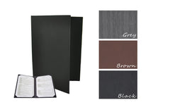 Menu Covers with Corner Pockets (Leather-like)