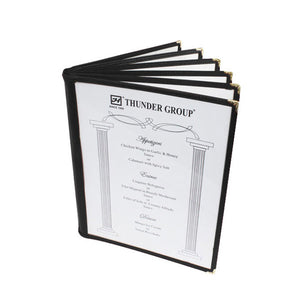 Menu Cover, 6 Page Book Fold (10 Pack), Tabletop - eKitchenary