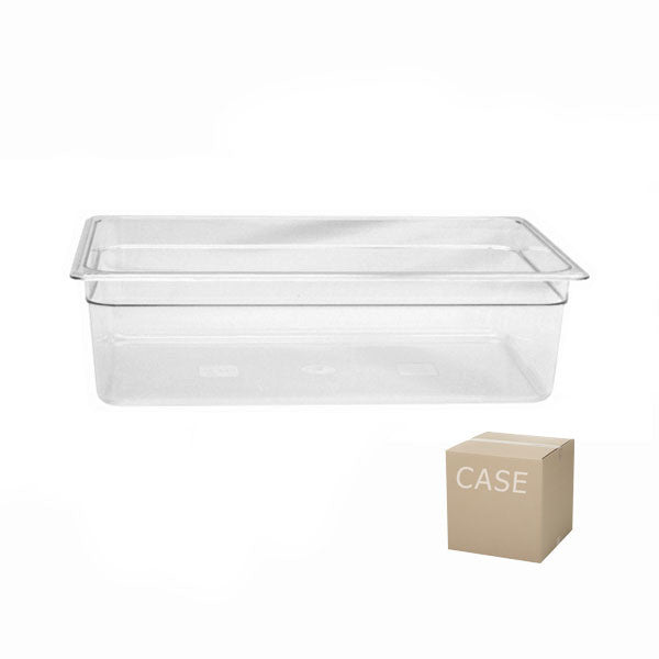 Thunder Group Clear Polycarbonate Full Size Food Pan (Case), Polycarbonate - eKitchenary